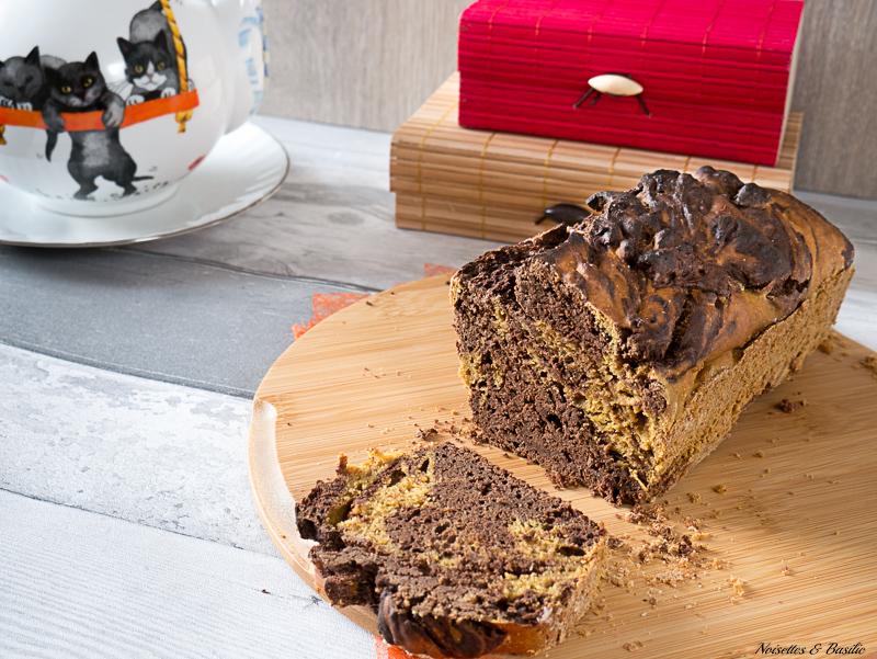 Un gâteau marbré chocolat et butternut, une tuerie de douceur !