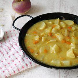 Un petit curry de navets façon blanquette pour retrouver une sauce à la texture parfaitement cocooning !