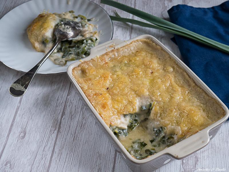 Ne jete plus les verts de poireaux, mange-les en gratin avec du brie de Meaux