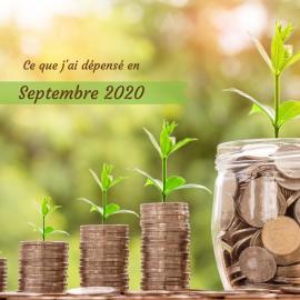 Combien coûte une alimentation bio, locale, de saison et zéro déchet, bref, écologique ? Je te dis tout dans ce bilan de dépenses pour le mois de septembre 2020 !