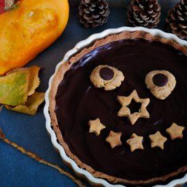 Tarte sucrée au potiron et chocolat meringuée (ou pas)