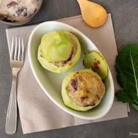 choux-raves farcis végétariens aux haricots rouges et quinoa